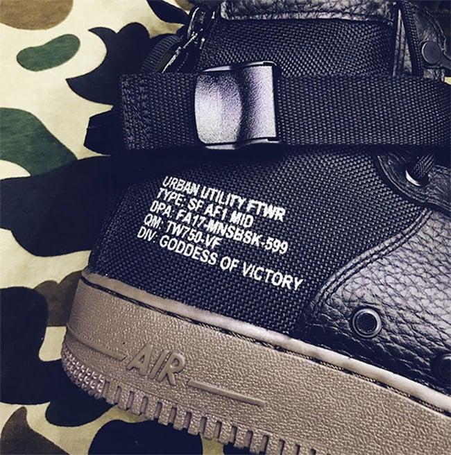 Nike SF-AF1 Mid Black Gum