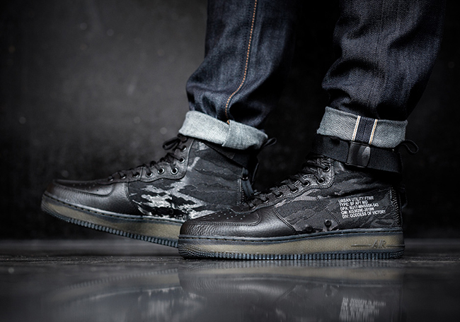 Nike SF-AF1 Mid Tiger Camo On Feet