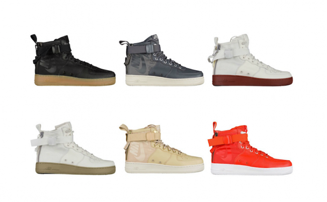 Nike SF AF1 Special Field Mid Colorways Release Dates
