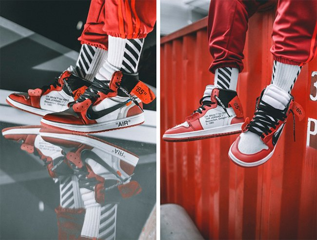 OFF-WHITE Air Jordan 1 On Feet