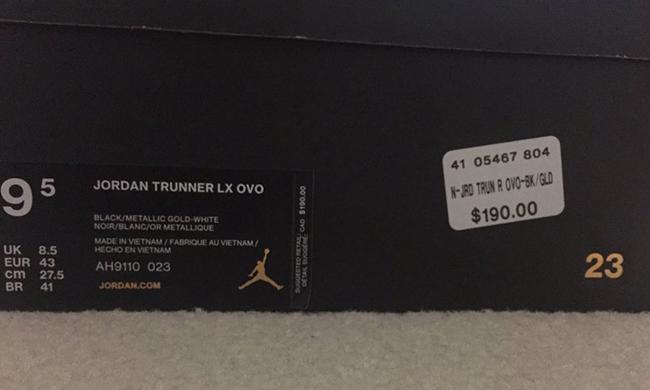 OVO Jordan Trunner LX Release Date
