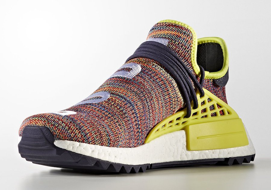Pharrell adidas NMD Human Race Trail Multicolor Noble Ink Yellow