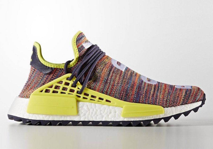 Pharrell Rocks a Neon Yellow Human Race adidas NMD