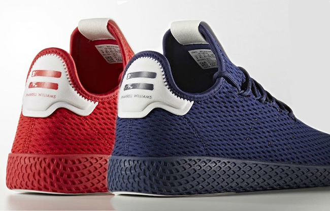 Pharrell adidas Tennis Hu Red Navy Blue Release Date