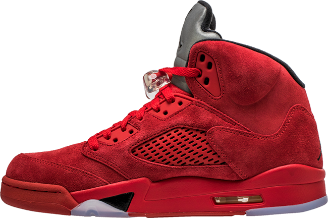 Red Suede Air Jordan 5 136027-602