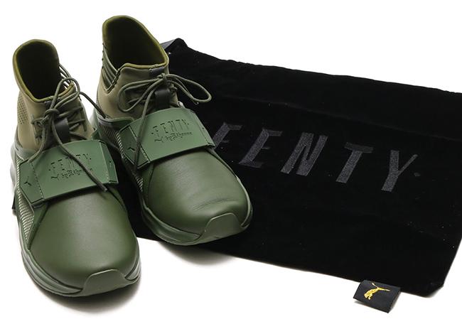 Rihanna Puma Fenty Trainer Hi Cypress Green
