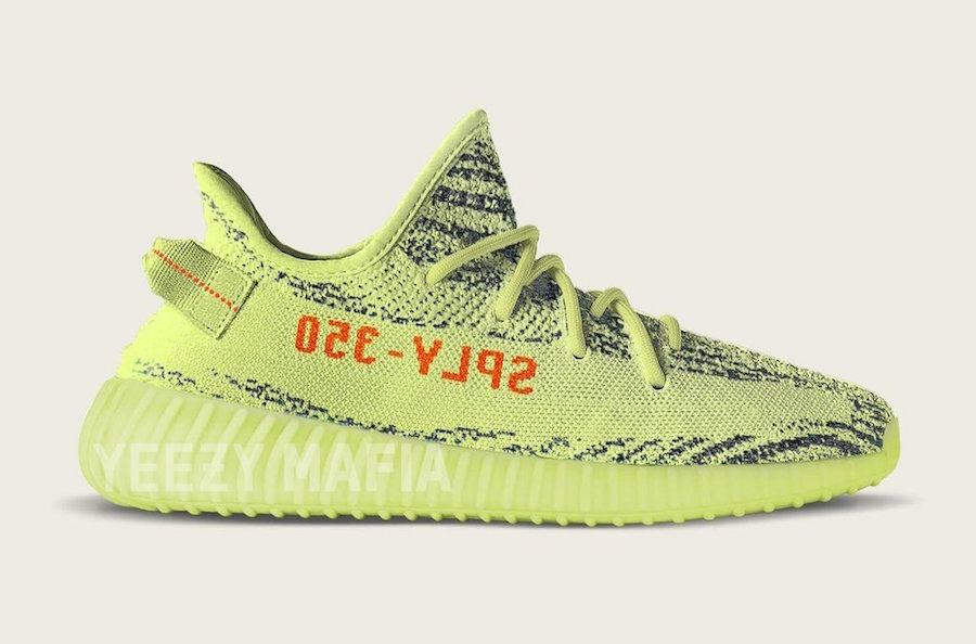 Semi Frozen Yellow Yeezy Boost 350 V2 B37572