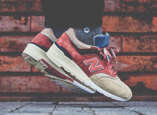 new balance 997s on feet