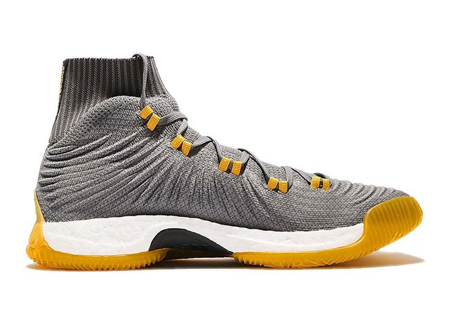 adidas Crazy Explosive Primeknit 2017 Grey Yellow