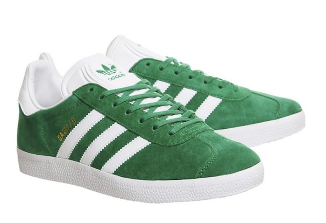 adidas Gazelle Green Suede White