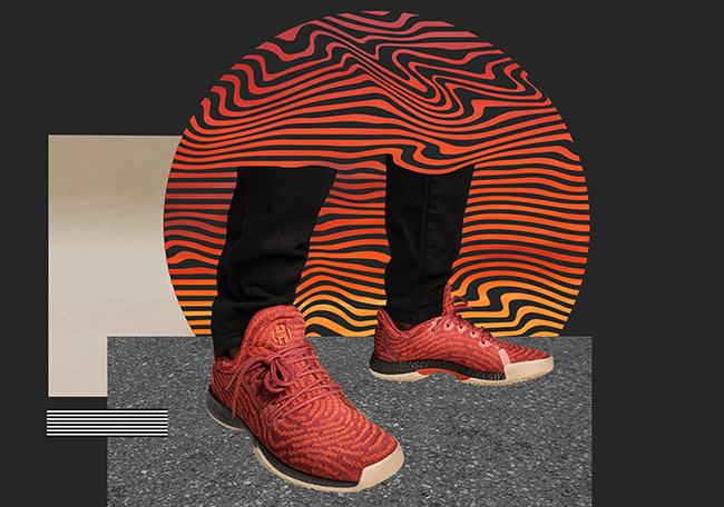 adidas Harden LS Fast Life Red Orange