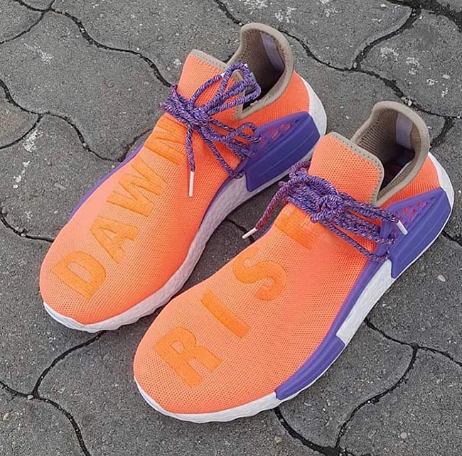 adidas NMD HU Rise Dawn Orange Purple
