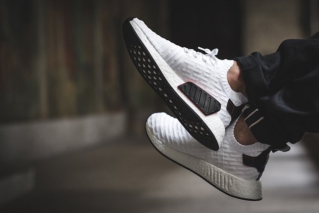adidas NMD R2 Primeknit White Black Release Date