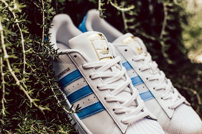 adidas Superstar Light Blue White