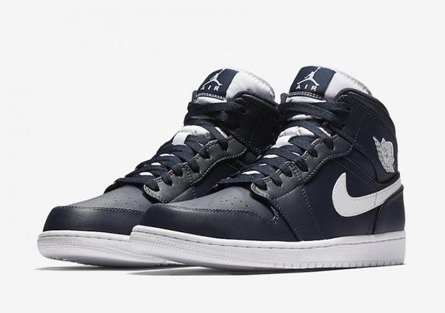 Air Jordan 1 Mi Obsidienne Couleur Blanche