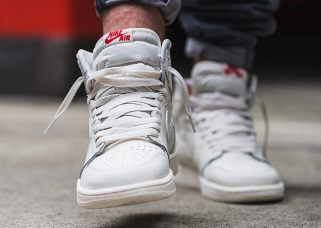 Air Jordan 1 Premium Essentials Sail On Feet