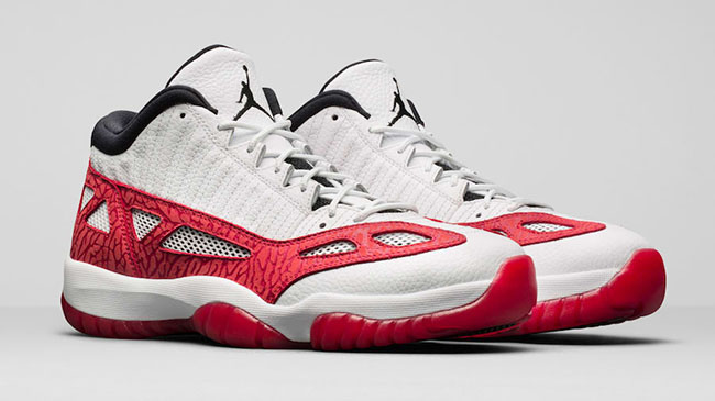 Air Jordan 11 Low IE White Red