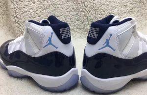 Air Jordan 11 White Midnight Navy University Blue