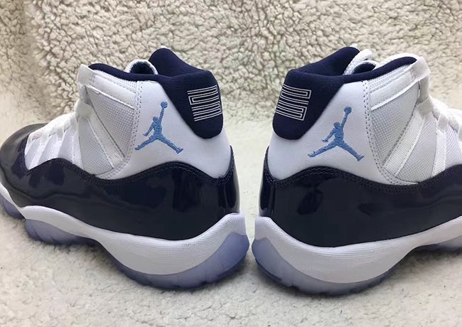 Air Jordan 11 White Midnight Navy University Blue