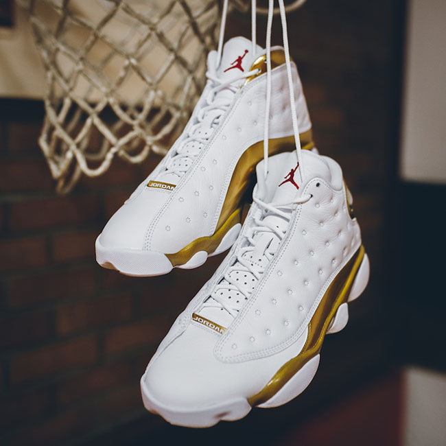 Air Jordan 13 DMP Finals Pack White Gold