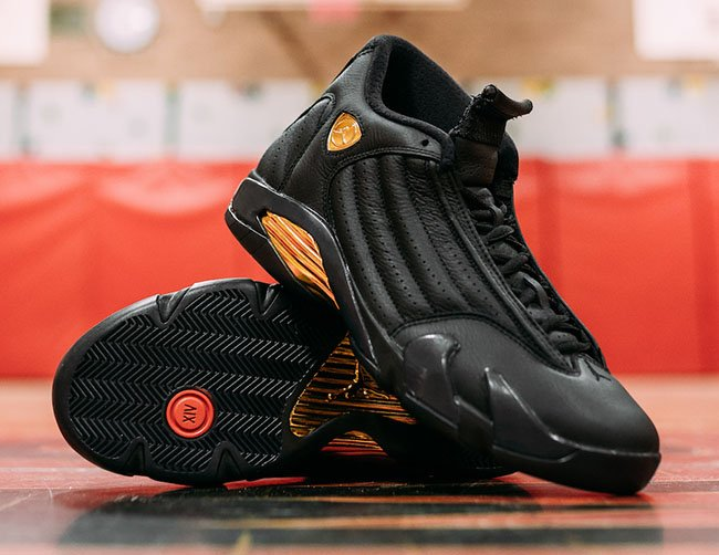 Air Jordan 14 DMP Finals Pack Black Gold