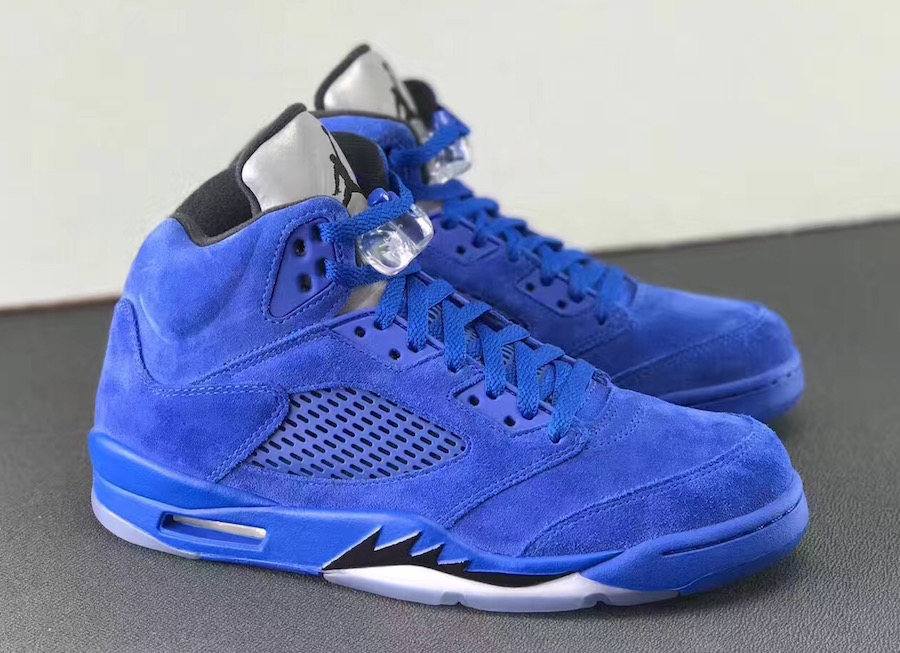 air jordan 5 blue suede review