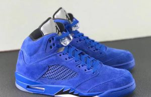 Air Jordan 5 Blue Suede Flight Suit East 136027-401