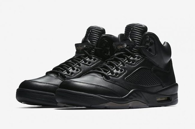 on sale 99aa7 2be25 Air Jordan 5 Premium Black 881432-010 Release Date