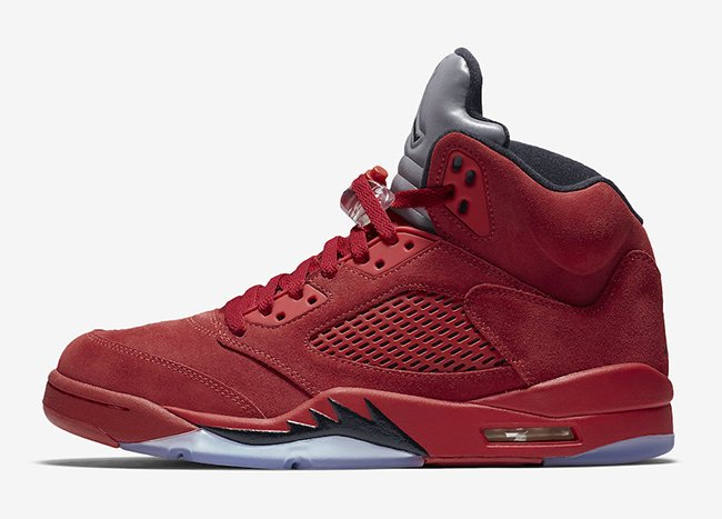 Air Jordan 5 Red Suede Flight Suit July 2017