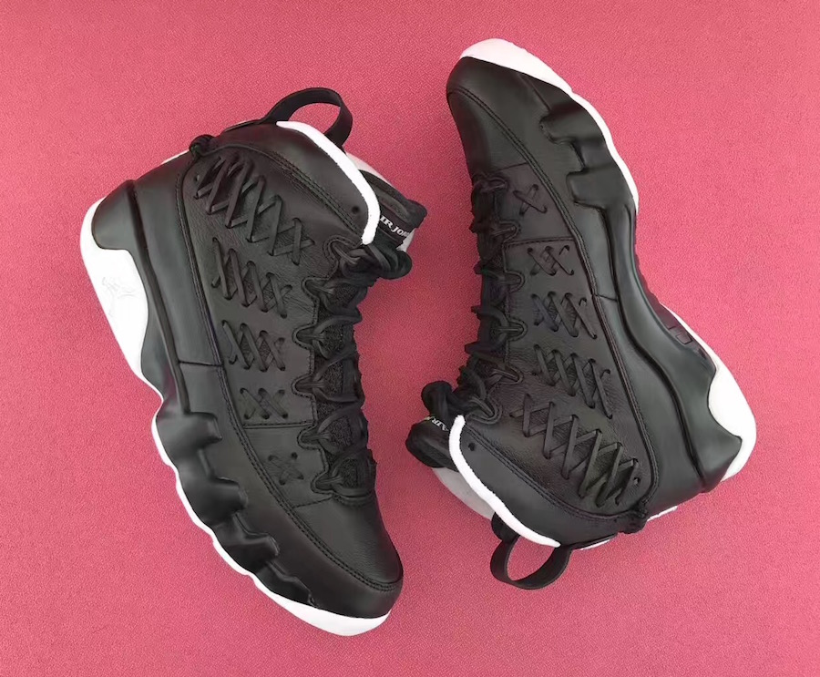 Air Jordan 9 Baseball Glove Black Leather Pack