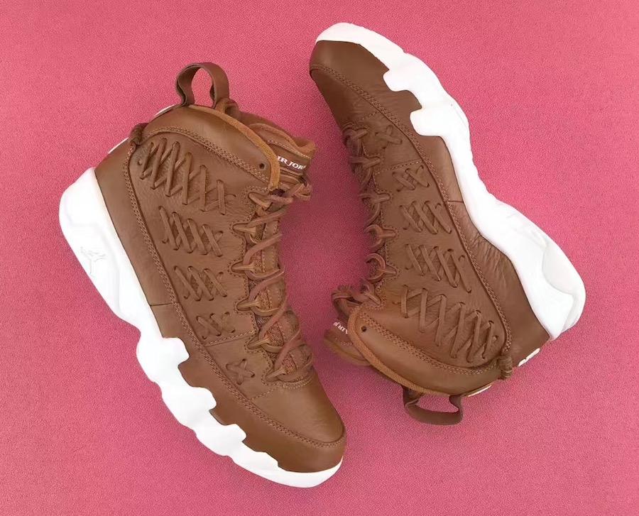 Air Jordan 9 Baseball Glove Brown Leather Pack