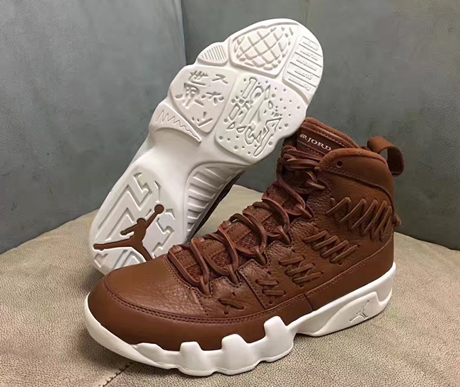 Air Jordan 9 Baseball Glove Brown Leather Release