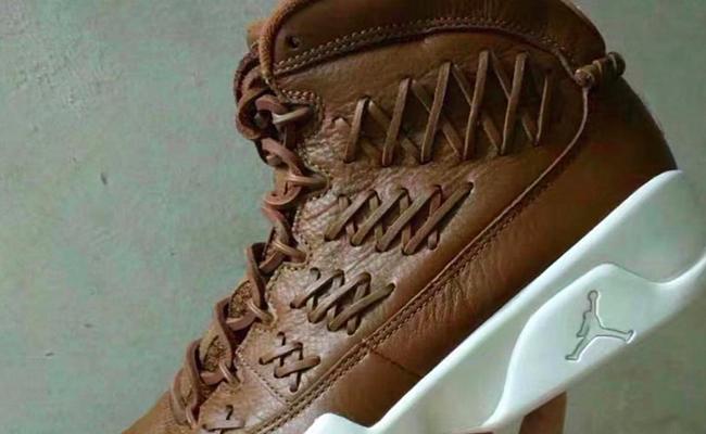 Air Jordan 9 Brown Leather Baseball Glove