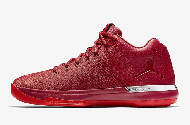 Air Jordan XXX1 Low Chicago Away Gym Red