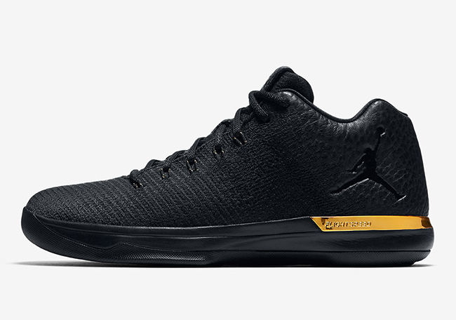 Air Jordan XXX1 Low Triple Black Gold July 2017