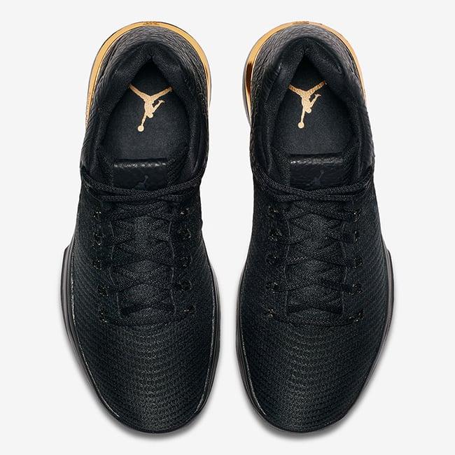 Air Jordan XXX1 Low Triple Black Gold Release Date