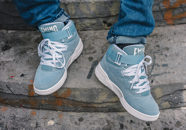 Ewing 33 Hi Dream Blue Suede