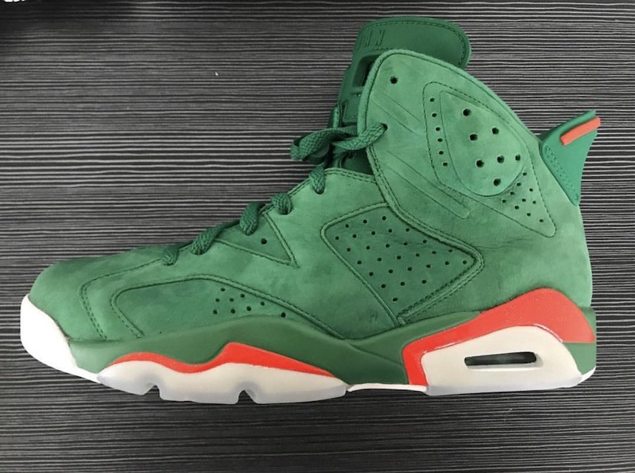 Gatorade Jordan 6 Green Orange