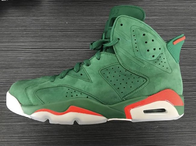 size 40 8a8ea 98f89 Gatorade Jordan 6 Green Orange