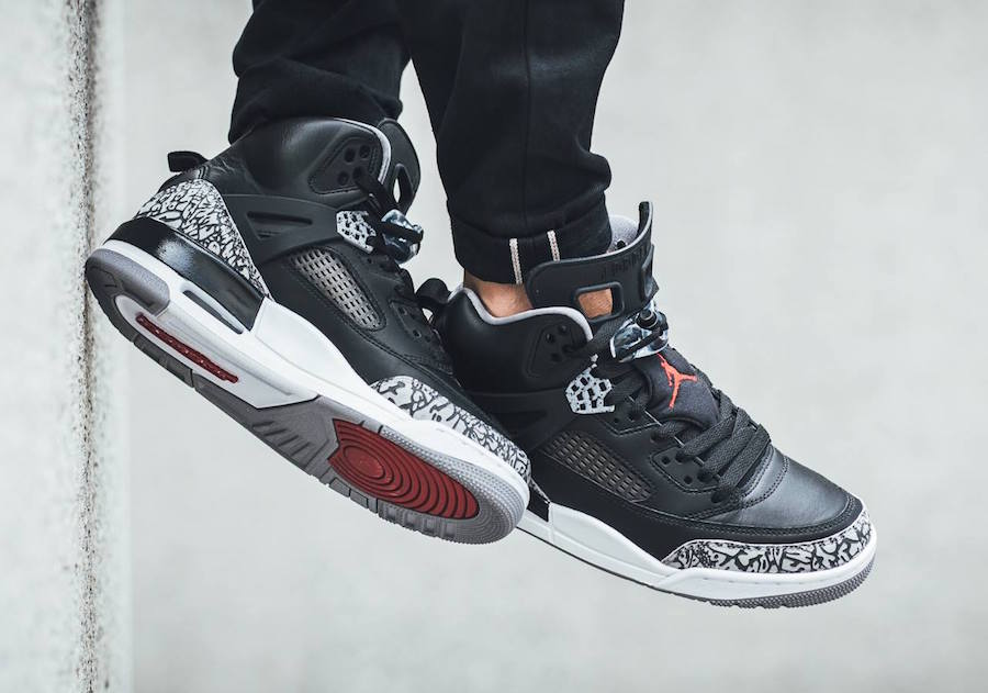 Green Jordan Cement On Feet : Jordan spizike black cement release date sneakerfiles