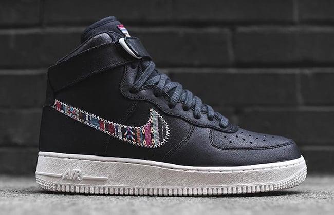 Nike Air Force 1 High Afro Punk Black White