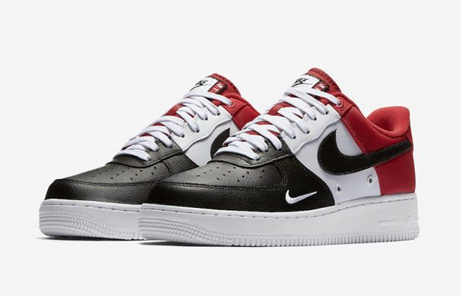 5e519490a895 Nike Air Force 1 Low Mini Swoosh Black Toe Release Date