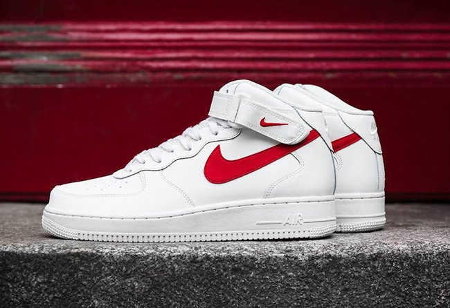 Nike Air Force 1 Mid 07 Sail University Red