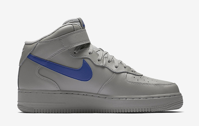 Nike Air Force 1 07 Mediados Gris / Azul Doberman WjGCDpU