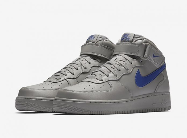 Nike Air Force 1 Mid Dust Grey Royal Blue 315123 040 Sneakerfiles