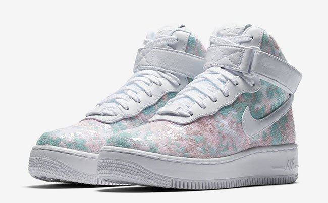 Nike Air Force 1 Upstep Hi LX Sequin Fabric