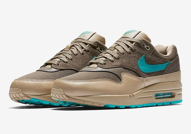 sports shoes b31ac 6d8e6 Nike Air Max 1 Premium Ridgerock Turbo Green