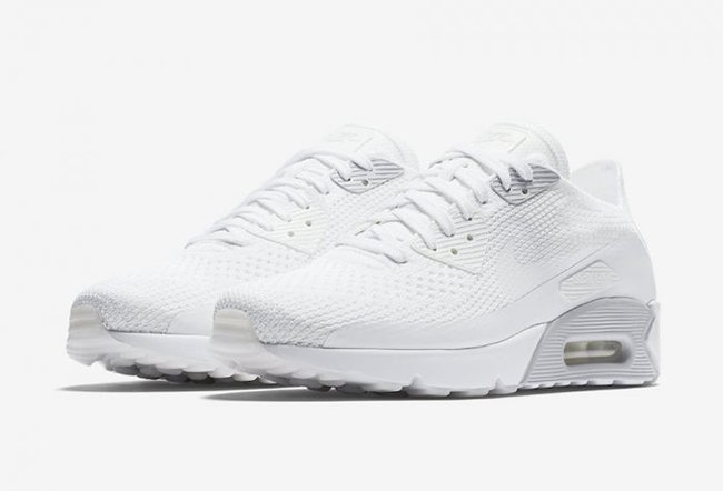 81976b652c3 Nike Air Max 90 Ultra 2.0 Flyknit Pure Platinum 875943-101 ...