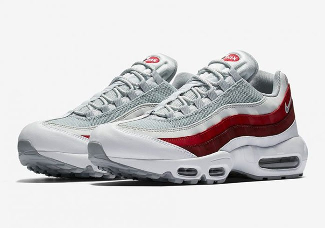 new product 10777 de4a7 ... cheap nike air max 95 team red wolf grey 5896d b6257