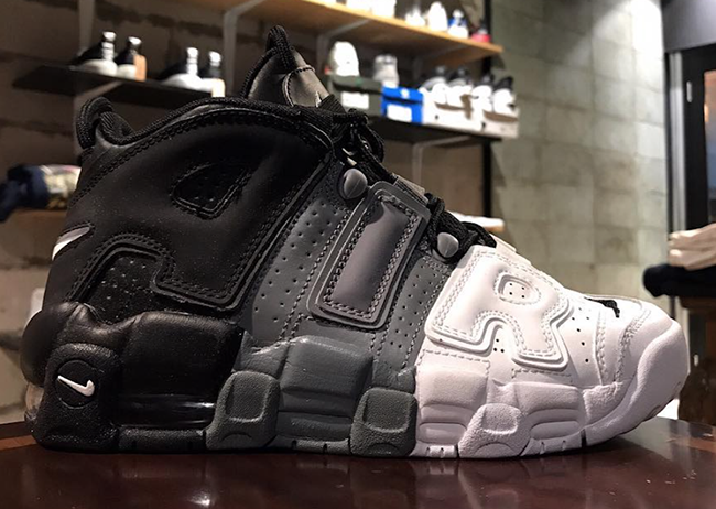 Nike Air More Uptempo Tri-Color Black Grey White